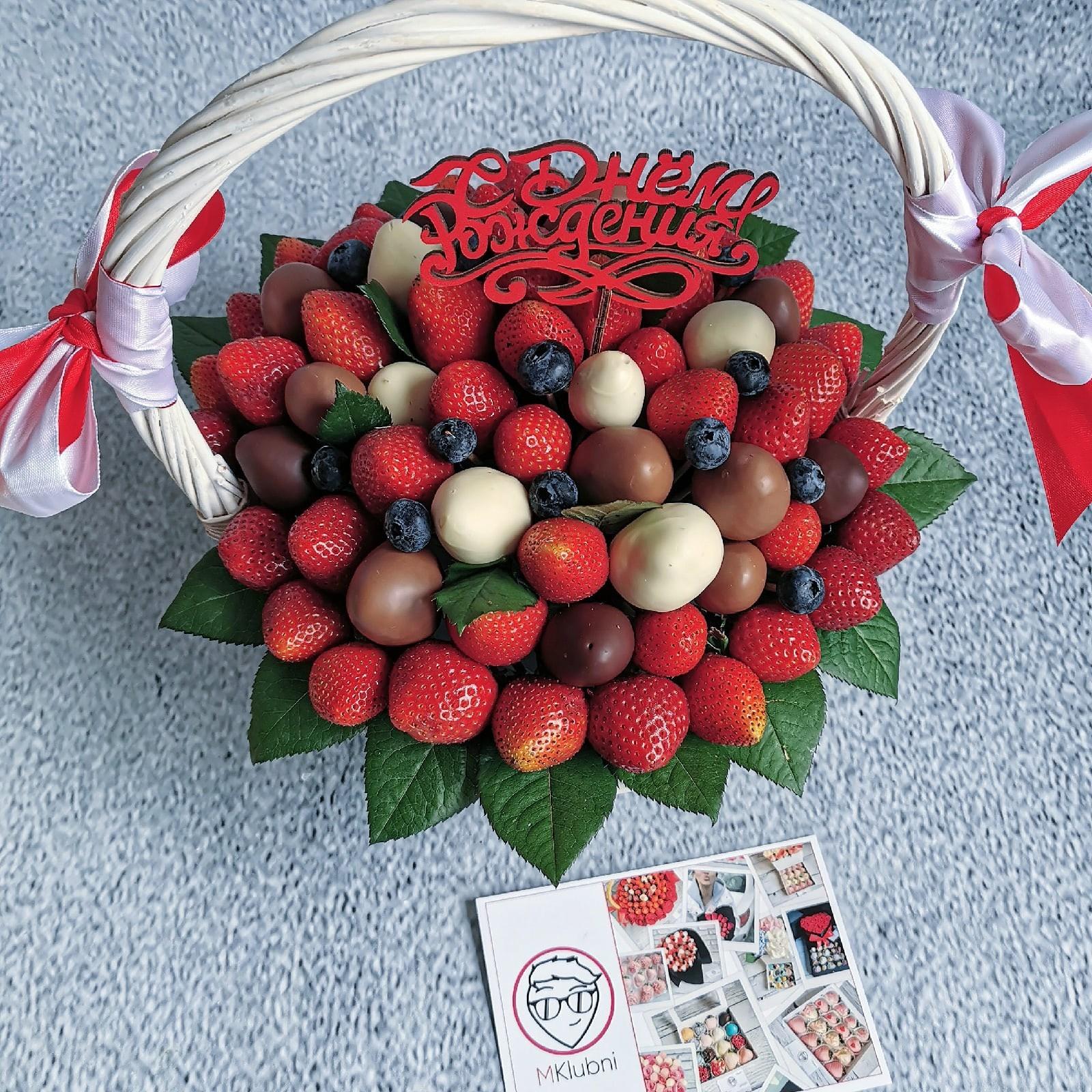 букеты ягоды в шоколаде поддон использую болгарку