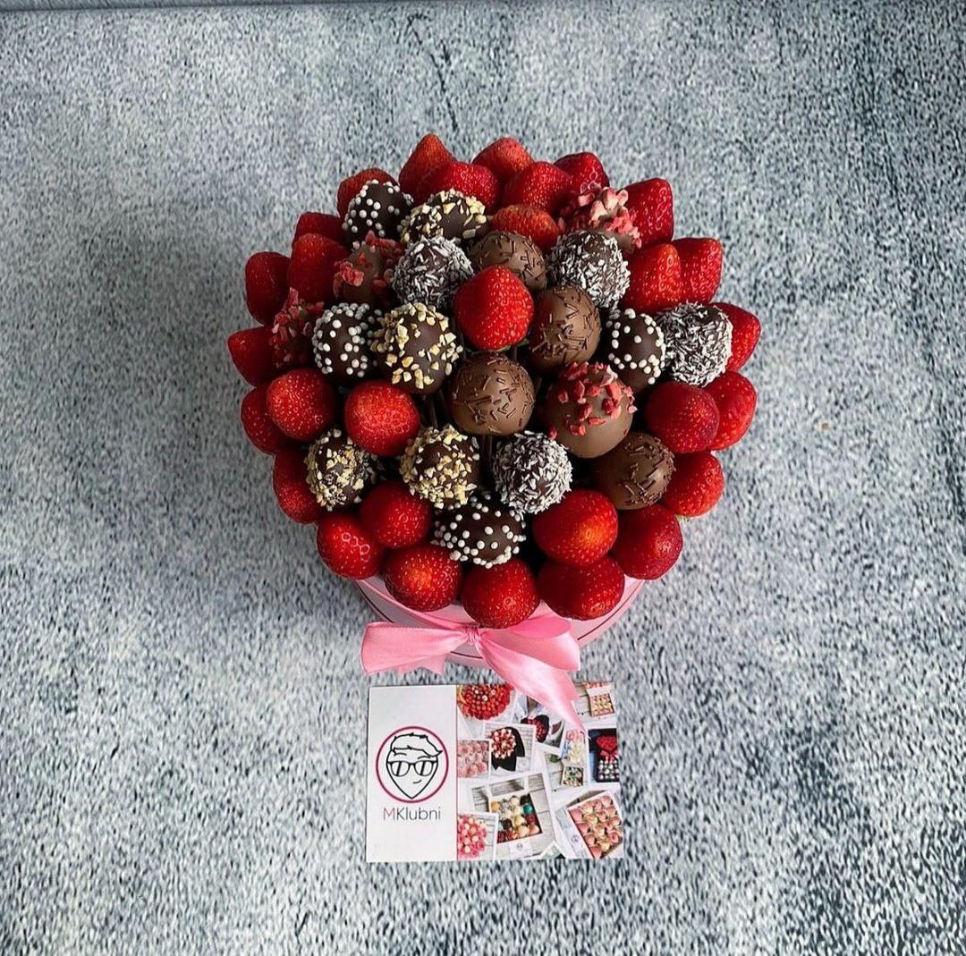 букеты ягоды в шоколаде города через