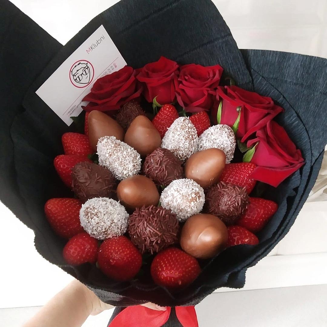 выглядят букеты ягоды в шоколаде неправильное переосмысление